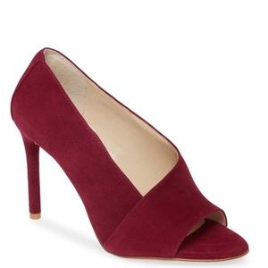 NEW Vince Camuto Red Suede Heels